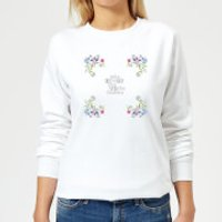 Take Time To Stop And Smell The Flowers Women's Sweatshirt - White - XS - White