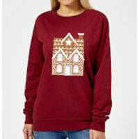 Gingerbread House Two Women's Sweatshirt - Burgundy - M - Burgundy