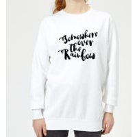 Somewhere Over The Rainbow Women's Sweatshirt - White - M - White