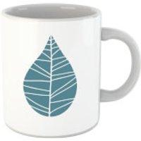 Plain Turquoise Leaf Mug