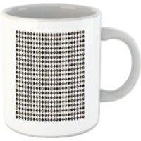 Checkered Diamond Pattern Mug