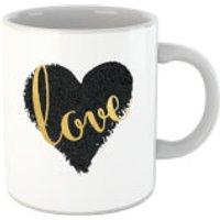 'Black Love Heart Love Mug
