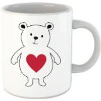 'Love Heart Bear Mug