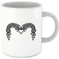 Curved Decorative Banner Mug