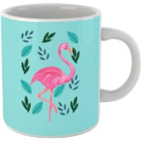 Flamingo And Leaves Mug - Flamingo Gifts