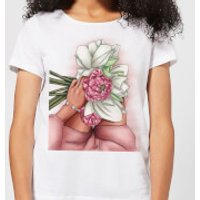Flowers Women's T-Shirt - White - 4XL - White