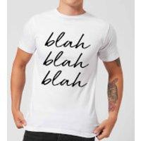 Blah Blah Blah Mens T-Shirt - White - S - White