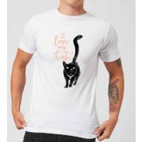 Candlelight I Love My Cat Black Cat Men's T-Shirt - White - S - White