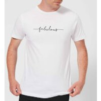 Candlelight Scriptive Fabulous Men's T-Shirt - White - XL - White