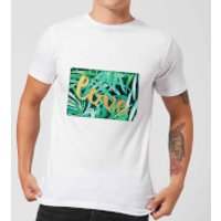 Candlelight Jungle Bush Golden Love Men's T-Shirt - White - L - White