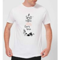 Candlelight A Spoilt Rotten Dog Lives Here Jack Russell Men's T-Shirt - White - L - White