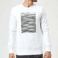 Candlelight Wood Texture Water Colour Sweatshirt - White - XXL - White