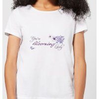 Candlelight You're Blooming Lovely Women's T-Shirt - White - S - White