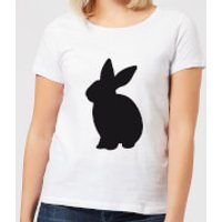 Candlelight Bunny Rabbit Silhouette Women's T-Shirt - White - XL - White