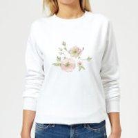 Candlelight Peony And Pansy Women's Sweatshirt - White - XS - White