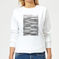 Candlelight Wood Texture Water Colour Women's Sweatshirt - White - 5XL - White - Wood Gifts