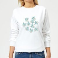 Candlelight Flower Bouquet Burst Women's Sweatshirt - White - XS - White