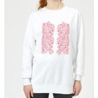 Candlelight Elegant Floral Pattern Women's Sweatshirt - White - 5XL - White - Elegant Gifts