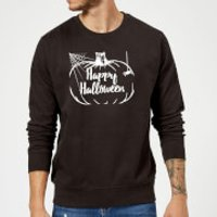 Happy Halloween Pumpkin Sweatshirt - Black - XXL - Black