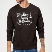 Happy Halloween Pumpkin Sweatshirt - Black - XXL - Black