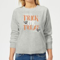 Trick Or Treat Women's Sweatshirt - Grey - XS - Grey
