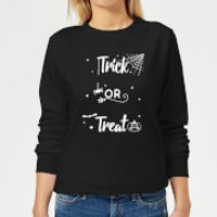 Trick Or Treat Spider Women's Sweatshirt - Black - XXL - Black - Spider Gifts