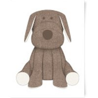 Brown Dog Teddy Art Print - A3 - Brown Gifts