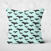 Black And Blue Bat Pattern Square Cushion - 60x60cm - Eco Friendly - Eco Friendly Gifts