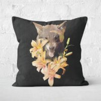 Wolfish Flowers Cushions Square Cushion - 60x60cm - Soft Touch - Cushions Gifts