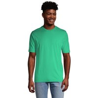 Super-T T-shirt, Tailored Fit, Men, Size: 42-44 Regular, Green, Cotton, by Lands' End