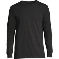 Super-T Long Sleeve T-shirt, Men, Size: 46-48 Regular, Black, Cotton, by Lands' End