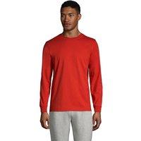 Super-T Long Sleeve T-shirt, Men, Size: 46-48 Regular, Orange, Cotton, by Lands' End