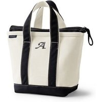 Small Zip Top Canvas Tote Bag, Women, Ivory, Cotton, by Lands' End