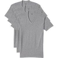 V-neck Vest - 3-pack, Men, Size: 34 - 36 Regular, Grey, Cotton, by Lands' End