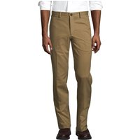 Flat Front Non-iron Chinos, Tailored Fit, Men, Size: 34 Regular, Brown, Cotton, by Lands' End