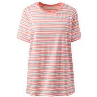 Supima Short Sleeve Crew Neck T-shirt, Women, Size: 20-22 Plus, Orange, Cotton, by Lands'End, Bright