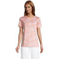 Supima Short Sleeve Crew Neck T-shirt, Women, Size: 16-18 Regular, Orange, Cotton, by Lands' End