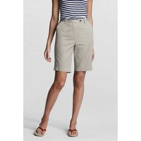 Back-elastic Bermuda Shorts Tan