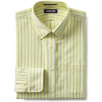Patterned Tailored Fit Easy-iron Button-down Supima Oxford Shirt, Men, Size: 17/34 Regular, Yellow,