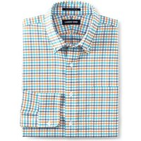 Patterned Traditional Fit Easy-iron Button-down Supima Oxford Shirt, Men, Size: 16/33 Regular, Orang