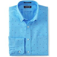 Patterned Traditional Fit Easy-iron Button-down Supima Oxford Shirt, Men, Size: 151/2/35 Regular, Bl