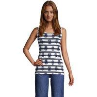 Cotton Vest Top, Women, Size: 16-18 Regular, White, by Lands' End