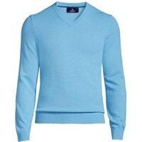 V-neck Cashmere Jumper, Men, Size: 34 - 36 Regular, Blue, by Lands' End