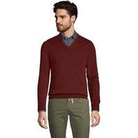 Fine Gauge Supima Cotton Jumper, V-neck, Men, Size: 46-48 Regular, Red, by Lands' End