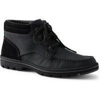 Comfort Casual Lace-up Boots, Men, Size: 8 Regular, Black, Polyester, by Lands'End, Black