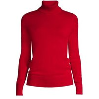 Cashmere Roll Neck Jumper, Women, Size: 8 Petite, Red, by Lands' End