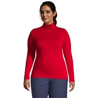 Cotton-modal Roll Neck, Women, Size: 24-26 Plus, Red, by Lands' End