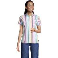 Print Supima Non-iron Short Sleeve Shirt, Women, Size: 20 Plus, Cotton, by Lands' End