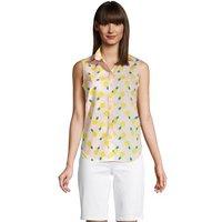 Supima Non-Iron Sleeveless Shirt, Women, Size: 10 Regular, Pink, Cotton, by Lands' End