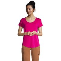 Lightweight Jersey T-shirt, Women, Size: 16-18 Regular, Pink, Spandex, by Lands' End